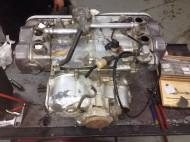 Motor antes de limpiar y restaurar